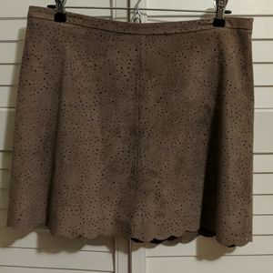 BCBG brown sueded miniskirt